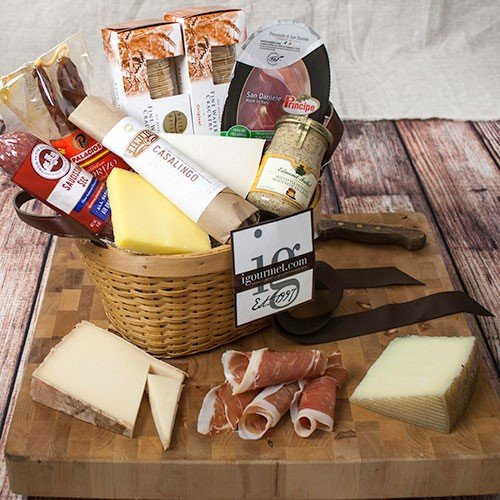 Connoisseurs Meat and Cheese Gift Basket